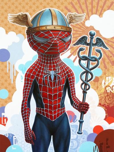 Spiderman as Hermes by Tim Maclean