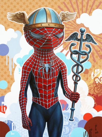 Spiderman as Hermes by Tim Maclean