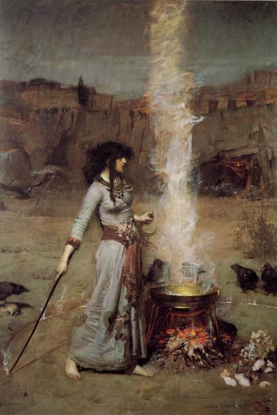 """The Magic Circle"" by John William Waterhouse"