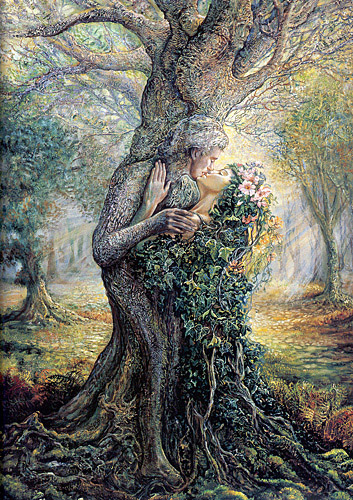 """The Dryad and the Tree Spirit"", by Josephine Wall"