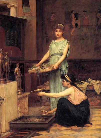 """The Household Gods"" by john William Waterhouse"