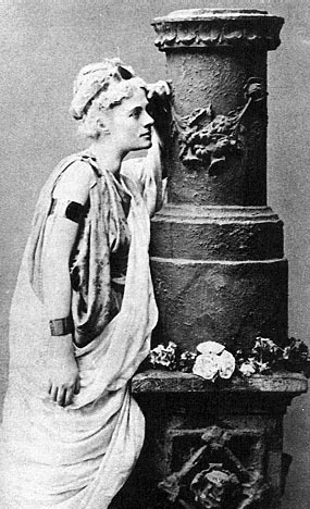 Jane Ellen Harrison as Euripides' Alcestis