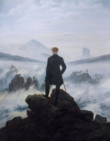 """Wanderer above the sea of fog"" by Caspar David Friedrich"
