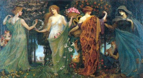 """""""The Masque of the Four Seasons"""", by Walter Crane"""