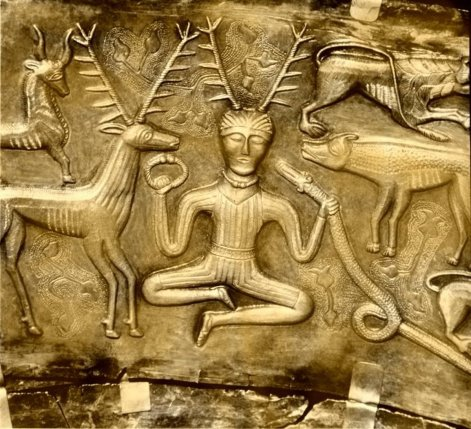 Cernunnos depicted on the Gundestrup Cauldron