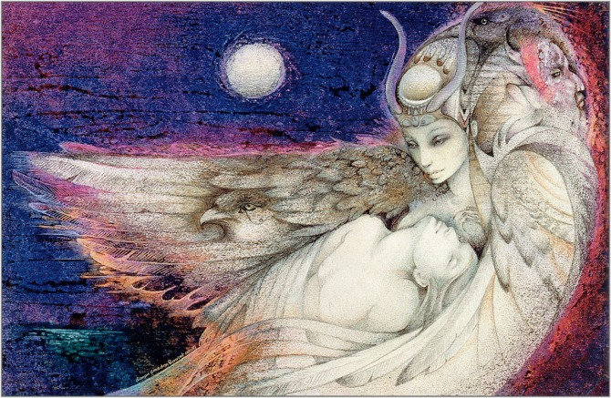 """Isis and Osiris"" by Susan Seddon Boulet"